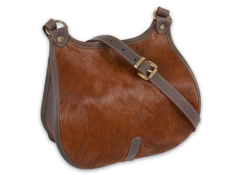 1fdd392bd33d2 Skórzana torba torebka myśliwska z włosiem nr 831 PPHU HUETTER